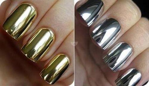 Серебристые и золотистые покрытия для ногтей
