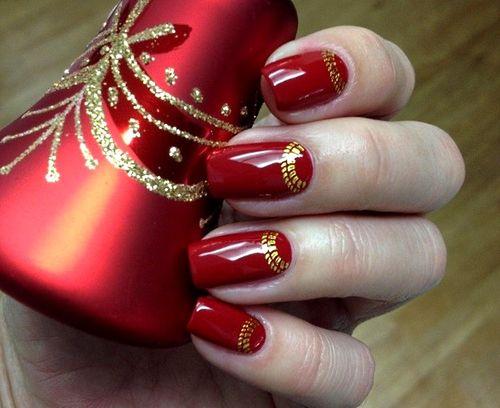 Красный френч с золотом
