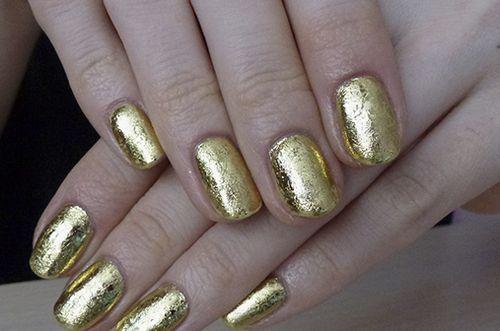 Гель лак с золотом
