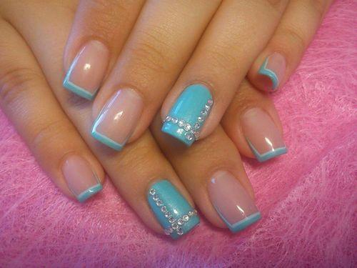 Дизайн ногтей шеллак новинки синие