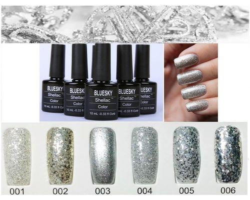 Популярные варианты дизайна с серебряным гель-лаком