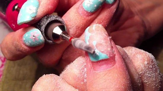 Использование фрезы для снятия гель лака