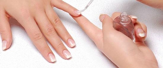 Укрепление ногтей перед нанесением гель лака