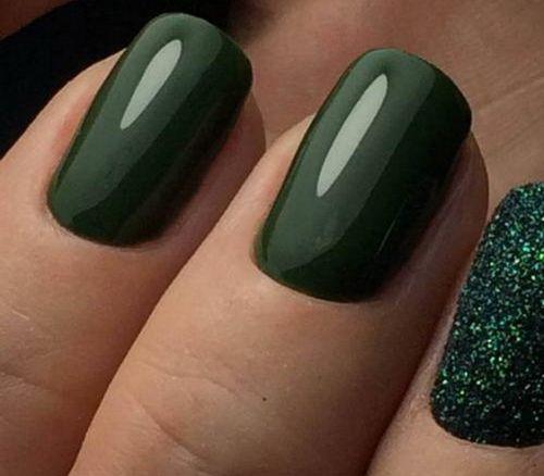 Темно зеленый гель лак
