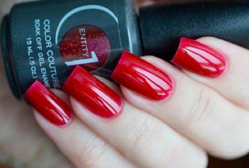 Гель-лак красный цвет
