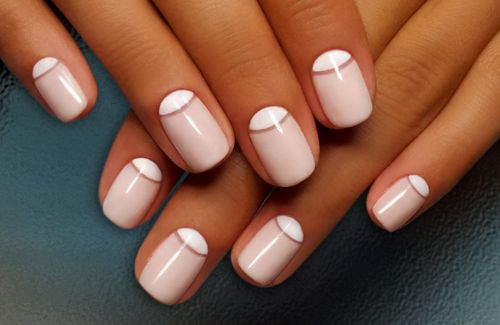 Дизайн ногтей гель-лак shellac - Лунный маникюр