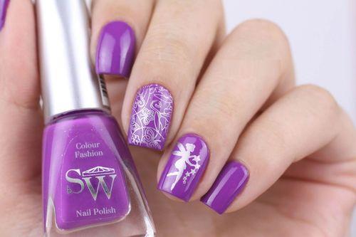 Оригинальные идеи маникюра фиолетовым гель-лаком