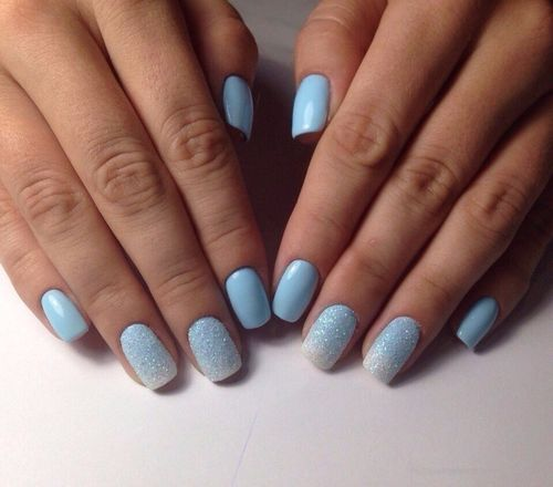 Бело-голубой градиент