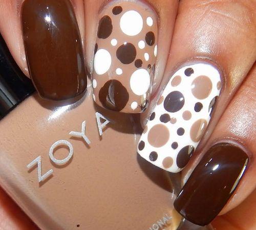 маникюр коричневого цвета brown manicure