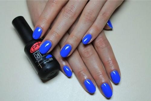 Синий гель-лак