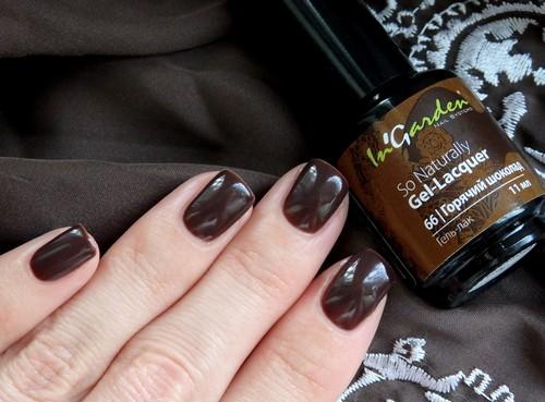 Темный коричневый гель-лак