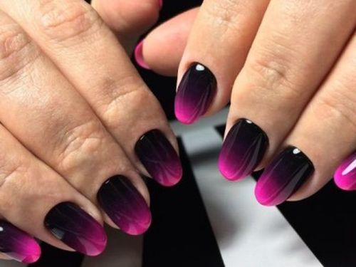 Градиент черный и розовый