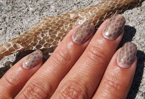 Дизайн гель лаком змеиная кожа