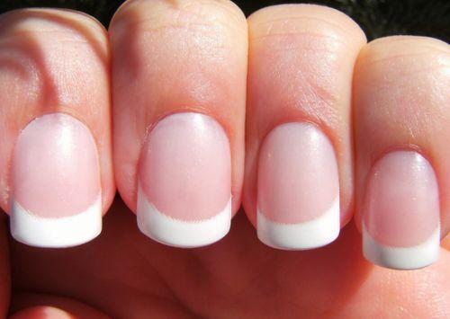 Прямоугольные округленные ногти