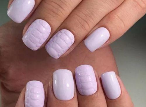 Дизайн ногтей прямоугольной формы с закругленными концами