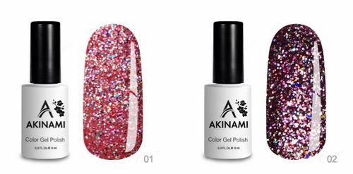 Гель-лак Akinami - Арт. ACD01 - Disko 01 и 02