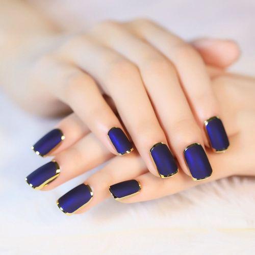 Дизайн ногтей с лентой на короткие ногти