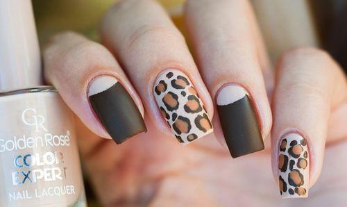 Дизайн маникюра - леопард